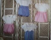 Vtg 1990 Simplicity Dress Romper Boys Girls Heirloom  Pattern 9641  Multi Size