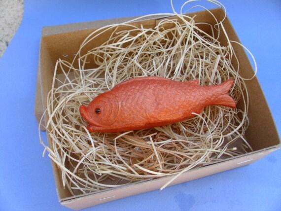 New 3D Paper Dresden Christmas Ornament Orange Fish