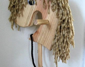 Wooden Stick Horse, Handmade Wooden Toys, Heirloom Toys, Natural Wood Toys, Wooden Getaway Pony