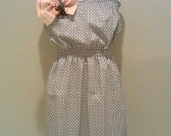 Vintage Fabric Summer Dress-sage/sun