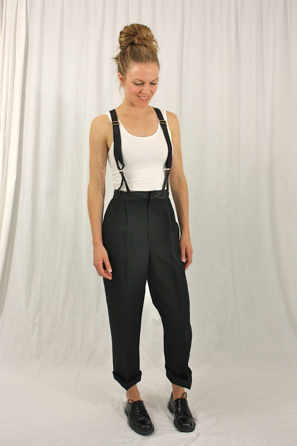 One Piece Wide Leg High Rise Palazzo suspender Pants Jumpsuit. Bluewolfsea Womens Sexy 2 Piece Bodycon Outfits Letter Print Bandeau Crop Top and Suspender Pants Jumpsuits Overalls. by Bluewolfsea. $ $ 25 99 Prime. FREE Shipping on eligible orders. Some sizes/colors are Prime eligible.