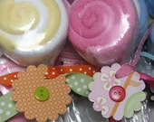 SWEET Washcloth Lollipop Favors Trio - ((Set of 3))