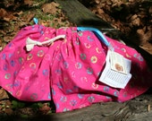 reserved for ks kid21 - Pink Batik Drawstring Accessory Bag