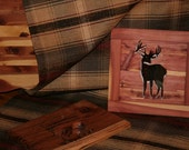 SOLD Red Cedar Deer Cutout Mirror SOLD