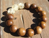 Cafe Creme Chunky Wooden Stretch Bracelet