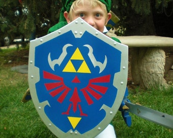 Child size Link's Hylian Shield from the Legend of Zelda (Ocarina of Time design)