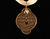 Antique Bawdy House Token Necklace