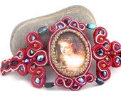 victorian  soutache bracelet , vintage inspired      free shipping  Valentine day