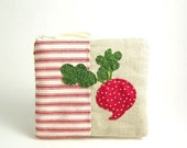 Red Radish Linen Zipper Pouch