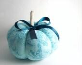 Decorative Pumpkin Turquoise Blue