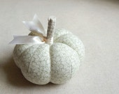 RESERVED  Pastel Green Leafy Pumpkin Pincushion