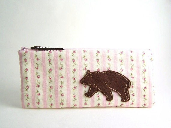 Wandering Bear Long Zipper Pouch