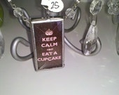 Keep Calm and eat a Cupcake soldered pendant