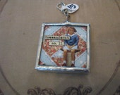 Quilt charm Commandment no. 11 Thou shalt quilt all the days of thy life soldered pendant