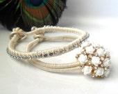 Bridal Bracelet Jewelry set, Friendship Bracelet, The ultimate Peacock wedding, trendy boho fashion wedding
