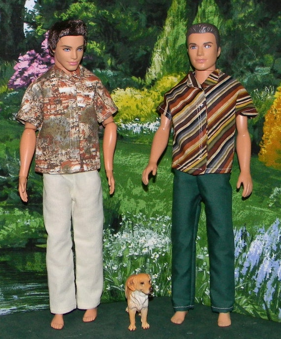 KEN doll clothes 2 pants and 2 shirts (KD-54)