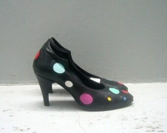 8 or 8.5 Vintage Black leather shoes