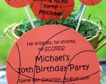 10 Bowling Basketball Football Soccer Baseball Birthday Invitations