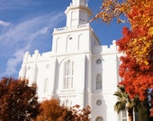 St. George LDS Temple North East 11x14 Photograph