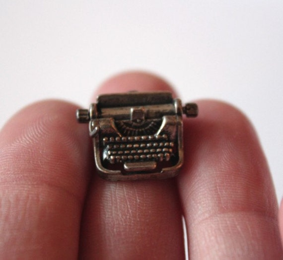World's Tiniest Typewriter Charm Pendant