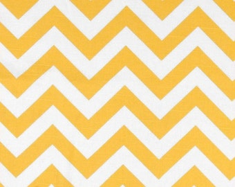 Premier Prints ZigZag Slub Texture Yellow/White- 1/2 yard