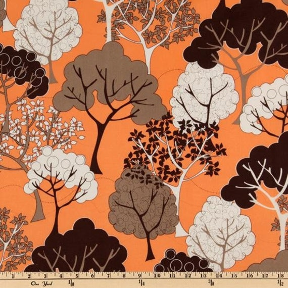 Hot Couturier Trees Mango by  Robert Kaufman Fine Fabrics-