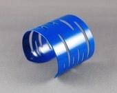 Jessica Cuff Bracelet in Bright Blue