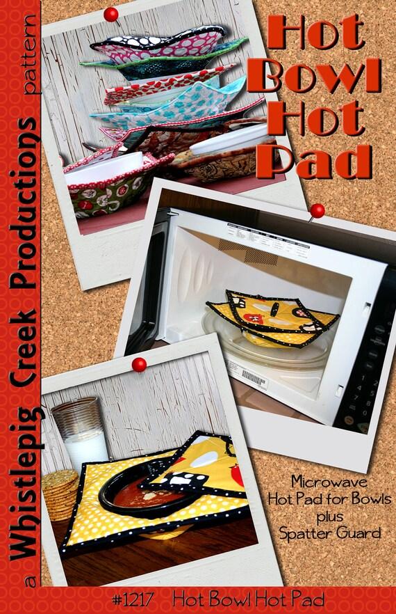 PDF - Hot Bowl Hot Pad - Microwave Safe Bowl Pad Sewing Pattern