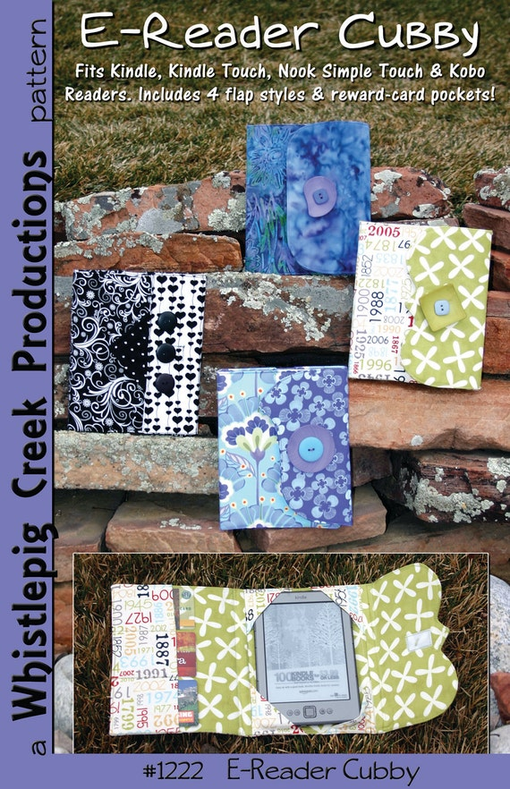 PDF - E-Reader Cubby:  E-Reader Cover Sewing Pattern