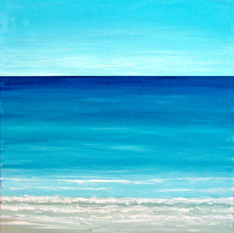 Ocean Beach: Beach Painting Ocean Painting Modern Contemporary Seascape