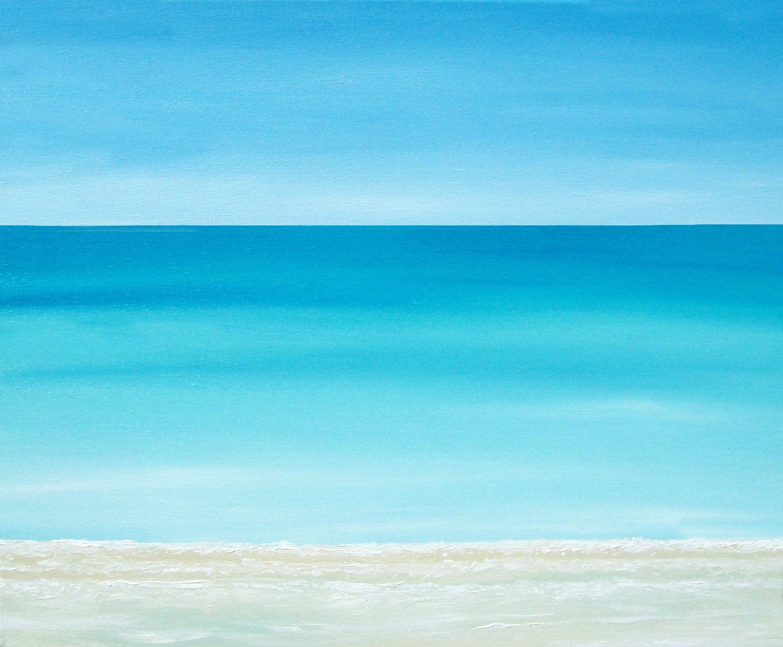 Beach painting ocean painting modern beach by for Coastal contemporary