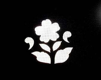 Japanese Stencil - Katagami Stencil -  Flower Stencil -  Vintage Stencil - Japanese Vintage Stencil - Vintage Japanese Stencil
