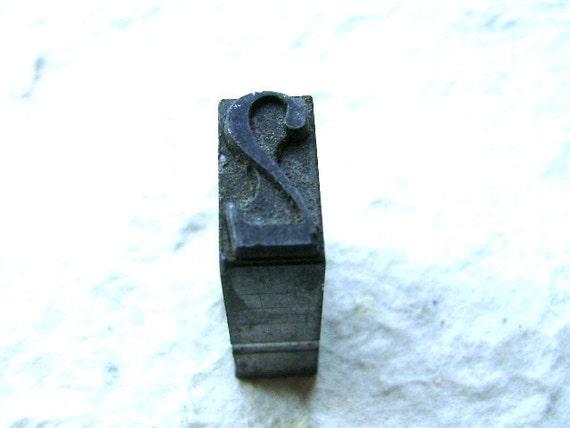 Vintage Japanese Typewriter Key Stamp TWO 2 L Size
