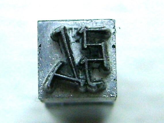 Vintage Japanese Typewriter Key Stamp enlarge, expand in Showa Period