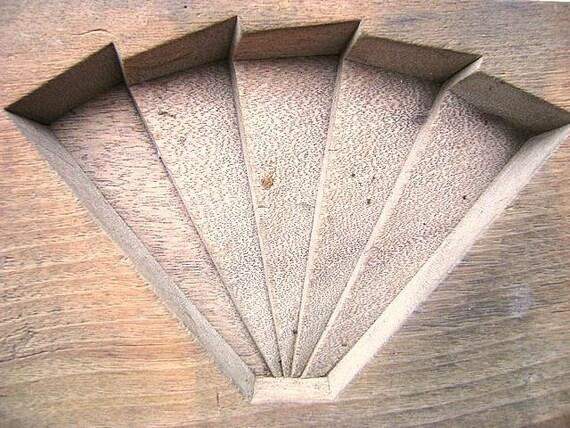 Vintage Japanese Kashigata Sweets Mold Folding Fan 1
