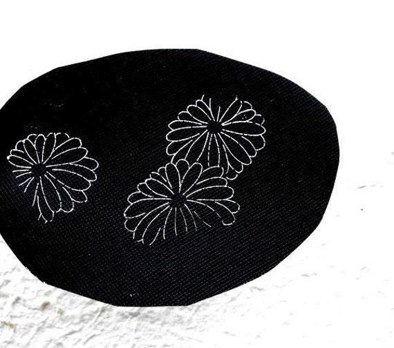 Japanese Stencil Katagami Chrysanthemum Flower Vintage in Showa Period