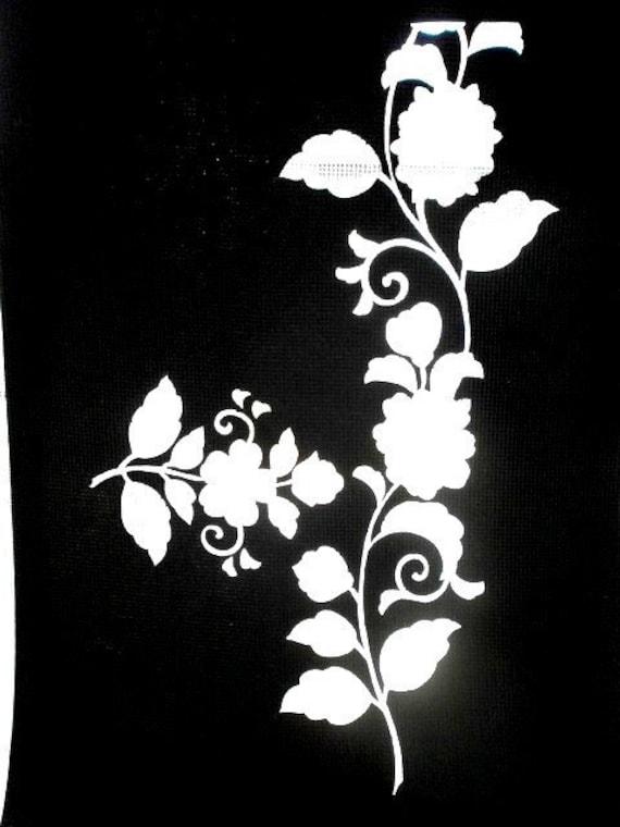 Vintage Japanese Stencil  Katagami  Flower  Stencil  Showa Period