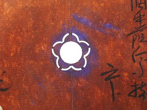 Vintage  Japanese Stencil  Family Crest  Kamon  Stencil B60 Flower Stencil
