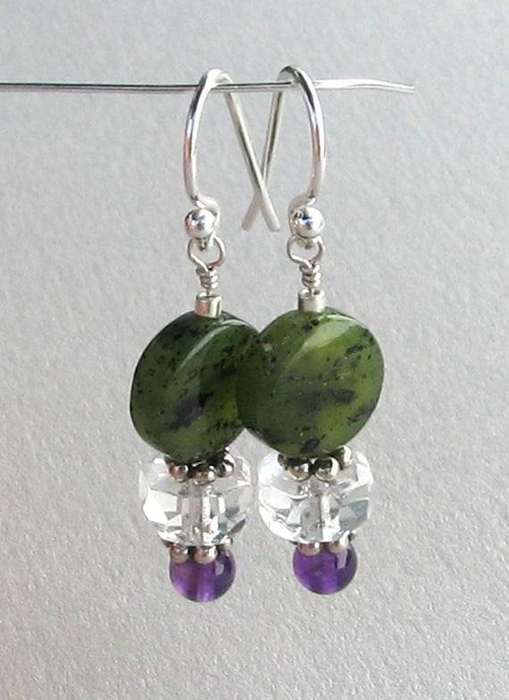 BC Jade and Amethyst Earrings