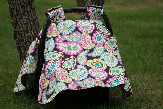 paisley car seat cover canopy. Black Bedroom Furniture Sets. Home Design Ideas