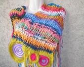 Original Pattern Freeform  Crochet PDF Capelet Scarf Freestyle Easy INSTANT DOWNLOAD