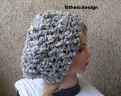 Fashion Hat Crochet  Pattern  PDF Number 36 A Adult One Size Chic Beret Hand Crocheted Slouchy Hat INSTANT DOWNLOAD