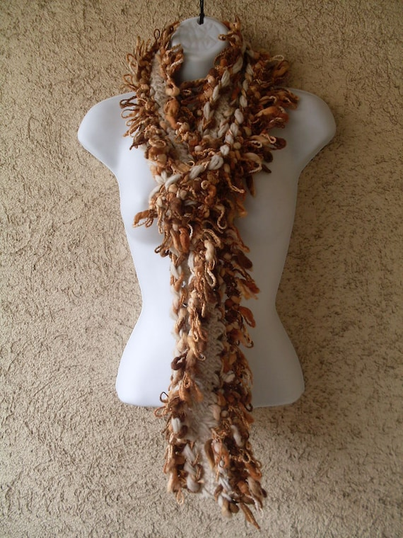 Free Shipping to USA -Extra Long Big Boa Freeform  Crochet Scarf Cowl -  Ready to Chip -  Hypoallergenic  Yarn 250 cm