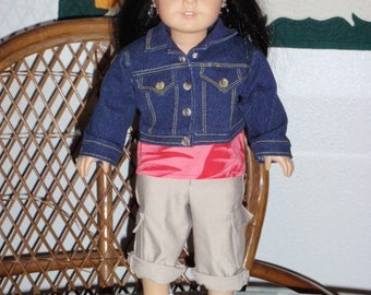 Denim Jacket for American Girl or other 18 inch doll