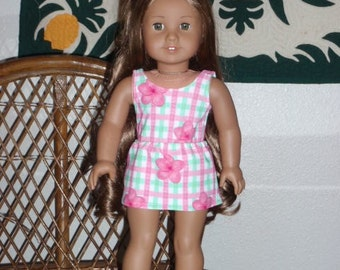 Hawaiian Print Swimsuit and Cover Up Skirt for American Girl Kanani or other 18 inch doll