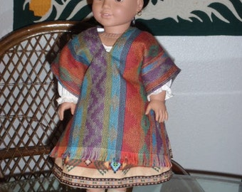 1824 Southwest Sarape for American Girl Josefina or other 18 inch doll