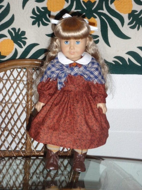 1850s Prairie School Dress and Shawl for American Girl Kirsten or other 18 inch doll
