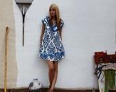 linen handmade basketweave backless french seam dress 4