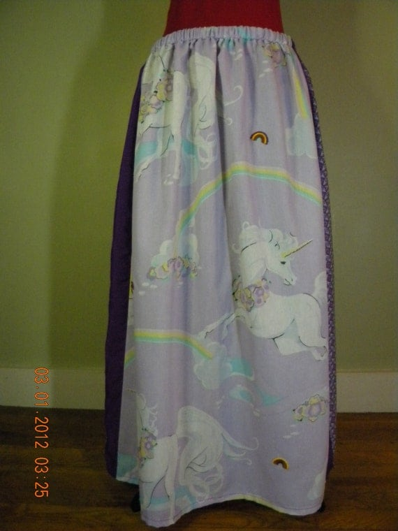 Vintage Unicorn Hippie Skirt