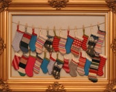Advent Calendar of Felted Wool Stockings